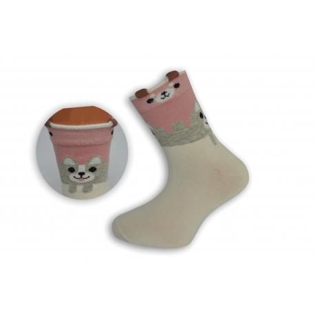 Smotanové detské obrázkové ponožky