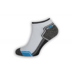 Športové krátke pánske ponožk - biele