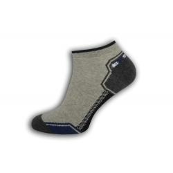 Športové krátke pánske ponožky - sivé