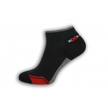 Športové krátke pánske ponožky - čierne