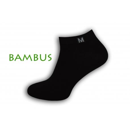 Jednoduché bambusové krátke ponožky - čierne