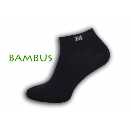 Jednoduché bambusové krátke ponožky - modré