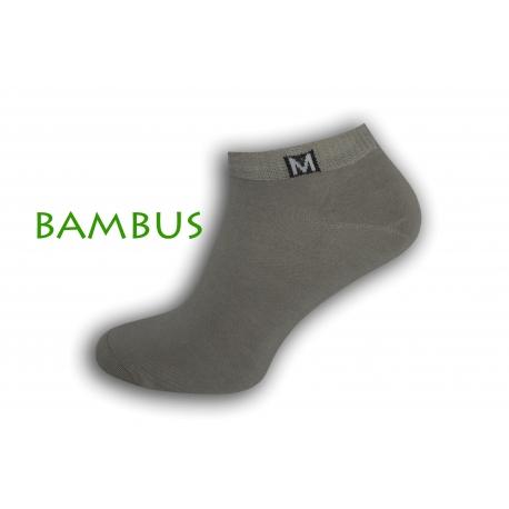 Jednoduché bambusové krátke ponožky - sivé