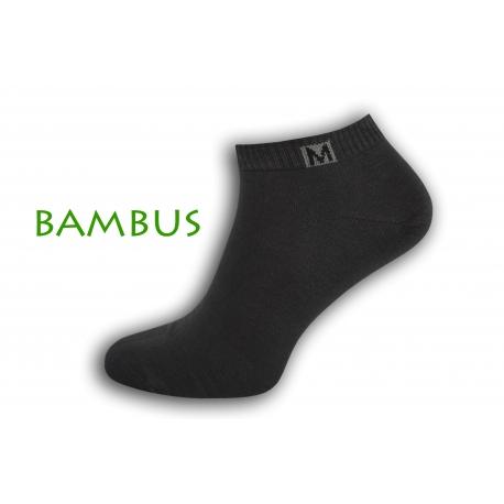 Jednoduché bambusové krátke ponožky - tm.sivé