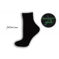 Dámske čierne ponožky - FOLOW ME