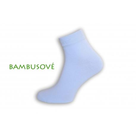 Biele bambusové ponožky s vyšším kotníkom