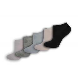 Kotníkové dámske ponožky so vzorom - 5-párov