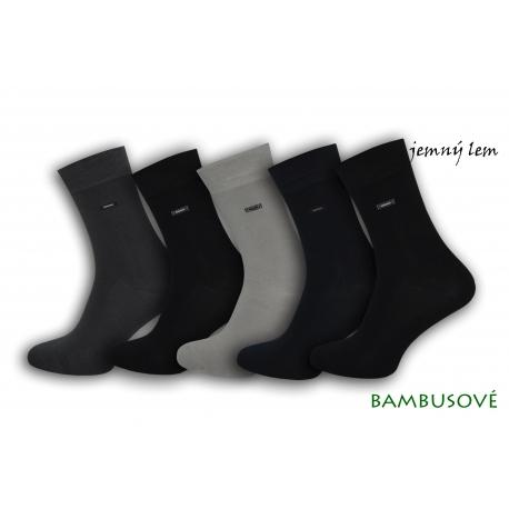 5-párov bambusových ponožiek s jemným lemom