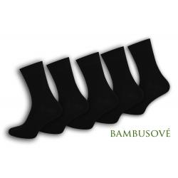 Čierne bambusové pánske ponožky - 5-párov