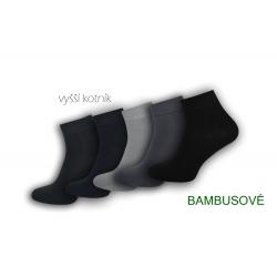 Vyšší kotník. Pánske bambusové ponožky.