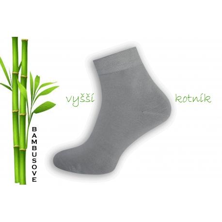 Sivé bambusové ponožky s vyšším kotníkom