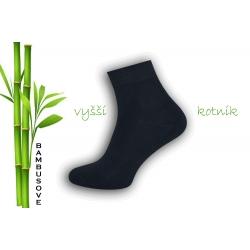 Vyšší kotník. Modré bambusové ponožky.