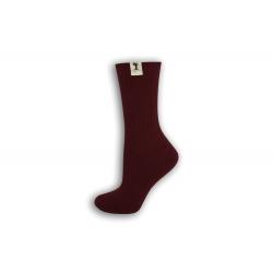 Bordové bavlnené dámske ponožky
