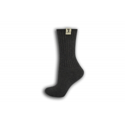Sivé bavlnené dámske ponožky
