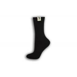 Čierne bavlnené dámske ponožky