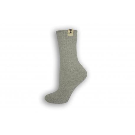 Bl.sivé bavlnené dámske ponožky