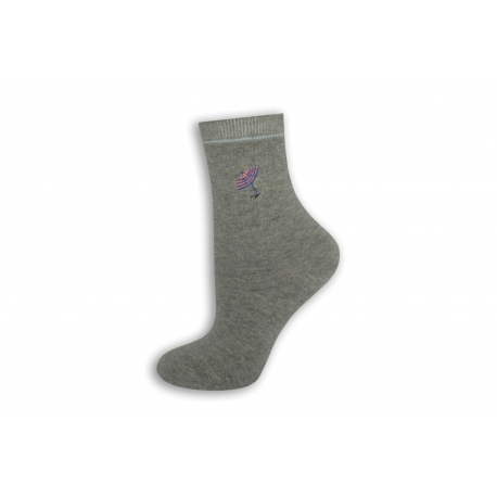 Sivé dámske ponožky s dáždničkom.