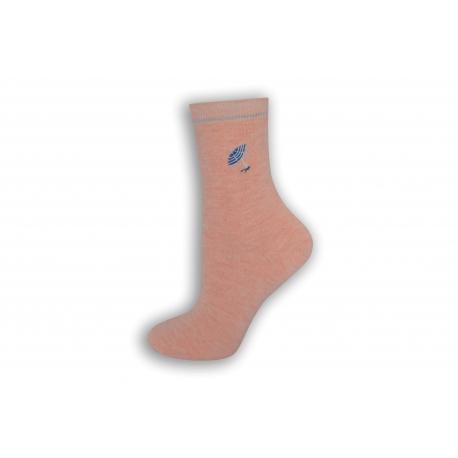 Ružové dámske ponožky s dáždničkom.
