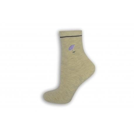 Prírodné dámske ponožky s dáždničkom.