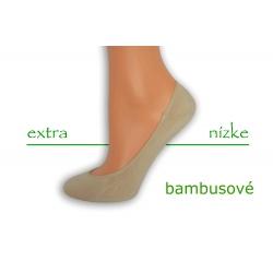 Telové extra nízke bavlnené ponožky