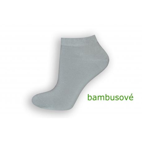 Sivé bambusové krátke ponožky