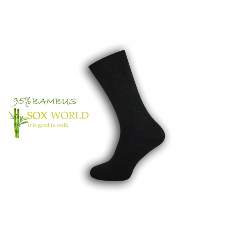 Luxusné 95%-né bambusové ponožky - antracit
