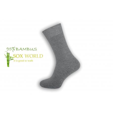 Luxusné 95%-né bambusové ponožky - bl.sivé