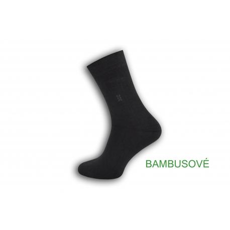 Obľúbené tm.sivé bambusové ponožky s jemným vzorom