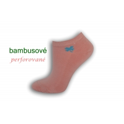 Ružové bambusové ponožky so štvorlístkom