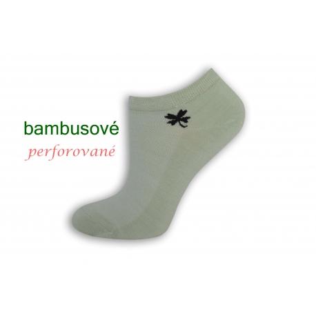 Hráškové bambusové ponožky so štvorlístkom