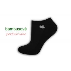 Čierne bambusové ponožky so štvorlístkom