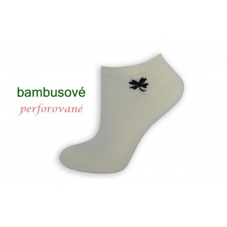 Maslové bambusové ponožky so štvorlístkom