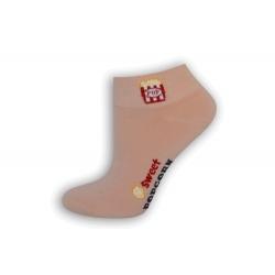 Ružové dámske ponožky s popcornom