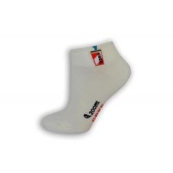 Biele veselé ponožky s pohárom
