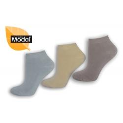 Členkové dámske ponožky z modalu - 3 páry