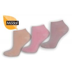 Kotníkové dámske ponožky z modalu - 3 páry