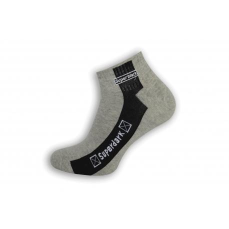 Sivé pánske trendové ponožky