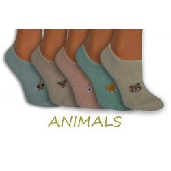 Nízke dámske ponožky so zvieratkami