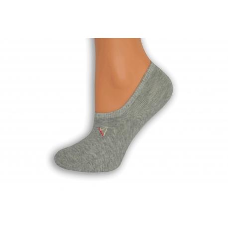 Sivé nízke ponožky s atlétkou