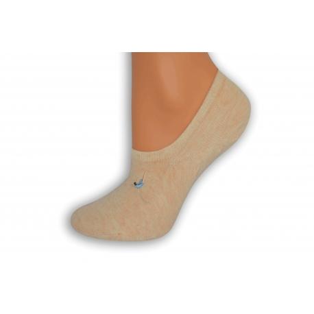 Broskyňové nízke ponožky s atlétkou