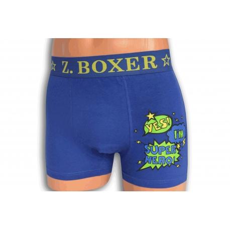 HERO. Modré pánske boxerky