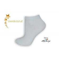 Biele bambusové ponožky v špičkovej kvalite