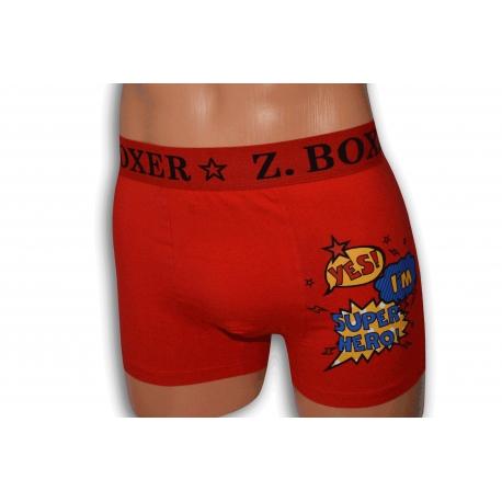 HERO. Pánske červené boxerky
