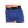 SUMMER. Modré pánske boxerky s popisom