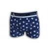 STAR. Modré bavlnené boxerky s hviezdami