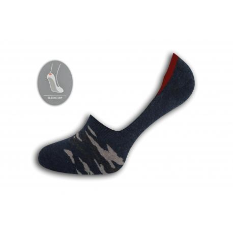 Maskáčové nízke ponožky – modré