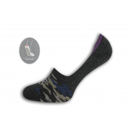 Maskáčové nízke ponožky – tm.sivé