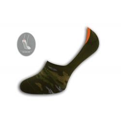 Maskáčové nízke ponožky - zelené