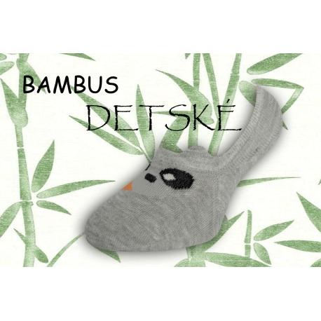 Neviditeľné bambusové detské ponožky - sivé