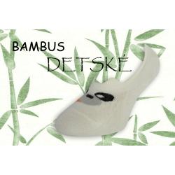 Biele bambusové nízke detské ponožky